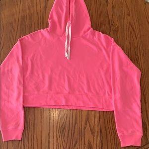 Hot pink cropped hoodie